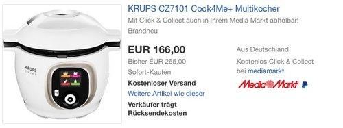 Krups CZ7101 Multikocher - jetzt 12% billiger