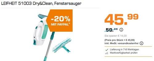 LEIFHEIT 51003 Dry&Clean Fenstersauger - jetzt 20% billiger