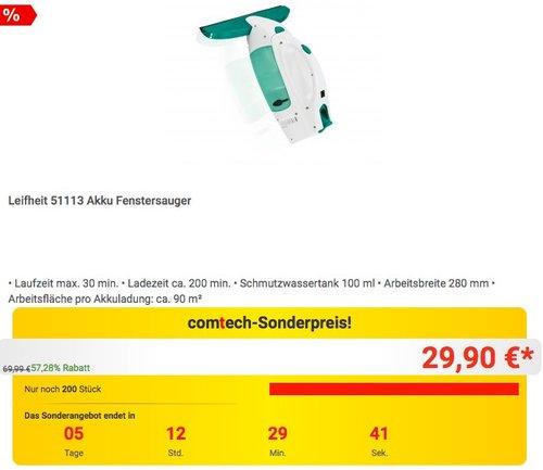 Leifheit 51113 Akku Fenstersauger - jetzt 21% billiger