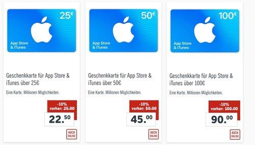 Lidl:  10 % Rabatt auf iTunes Geschenkkarten (bis 31.03.18) - jetzt 10% billiger