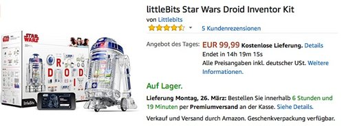 littleBits Star Wars Droid Inventor Kit - jetzt 30% billiger