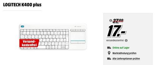 Logitech K400 Plus Wireless Touch Tastatur in Weiß - jetzt 47% billiger