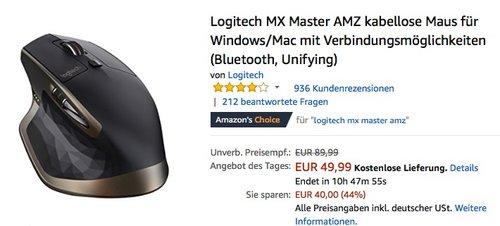 Logitech MX Master AMZ - jetzt 21% billiger