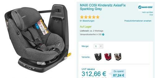 MAXI COSI Kindersitz AxissFix Sparkling Grey - jetzt 16% billiger