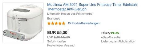 Moulinex AM 3021 Super Uno Fritteuse - jetzt 7% billiger