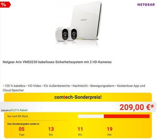 Netgear Arlo VMS3230 Smart Home 2 HD-Überwachung - jetzt 11% billiger