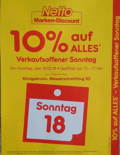 Netto Marken-Discount Königsbrunn: 10% Rabatt auf fast ALLES - jetzt 10% billiger