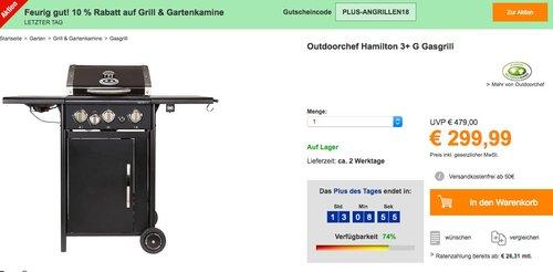 Outdoorchef Hamilton 3+ G Gasgrill - jetzt 28% billiger