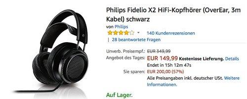 Philips Fidelio X2 HiFi-Kopfhörer - jetzt 16% billiger