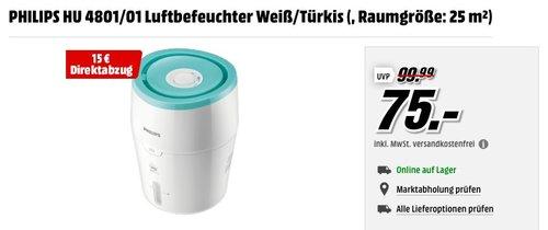 Philips HU4801/01 Luftbefeuchter Weiß - jetzt 20% billiger