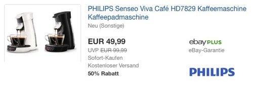 PHILIPS Senseo Viva Café HD7829 Kaffeemaschine Kaffeepadmaschine - jetzt 23% billiger
