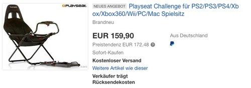 Playseat Challenge Spielsitz - jetzt 17% billiger