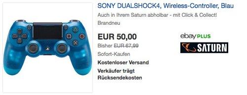 PlayStation 4 - DualShock 4 Wireless Controller, Blue Crystal - jetzt 17% billiger