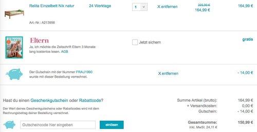 Relita Einzelbett Nik natur - jetzt 33% billiger