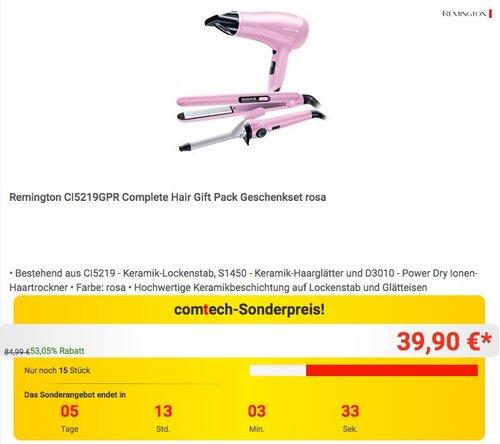 Remington CI5219GPR Complete Hair Gift Pack Geschenkset rosa - jetzt 53% billiger