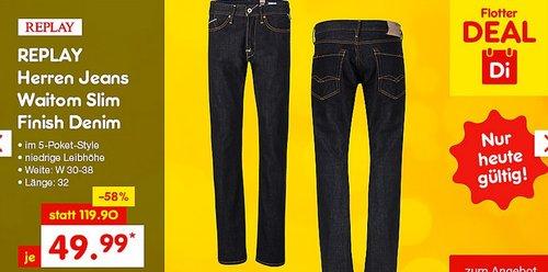 REPLAY Herren Jeans Waitom Slim Finish - jetzt 23% billiger