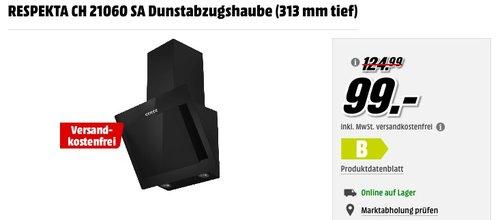 RESPEKTA CH 21060 SA Dunstabzugshaube - jetzt 8% billiger