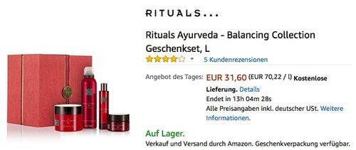 Rituals Ayurveda - Balancing Collection Geschenkset, L - jetzt 45% billiger