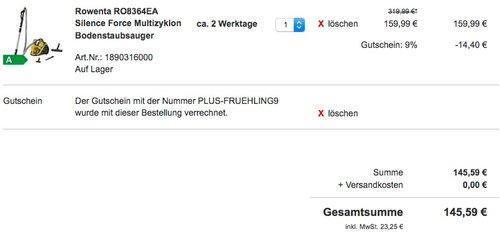 Rowenta RO8364EA Silence Force Multizyklon Bodenstaubsauger - jetzt 30% billiger