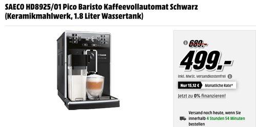 Saeco PicoBaristo HD8925 01 Kaffeevollautomat schwarz - jetzt 12% billiger