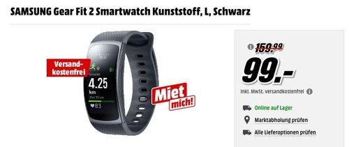SAMSUNG Gear Fit 2 Smartwatch schwarz - jetzt 31% billiger