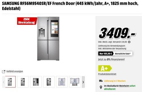 SAMSUNG RF56M9540SR/EF French Door  Kühl-Gefrier-Kombination - jetzt 7% billiger