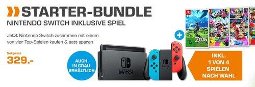 Saturn STARTER-BUNDLE: Nintendo Switch inklusive Spiel - jetzt 3% billiger