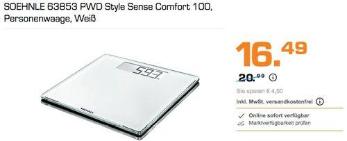 SOEHNLE 63853 PWD Style Sense Comfort 100 Personenwaage - jetzt 21% billiger