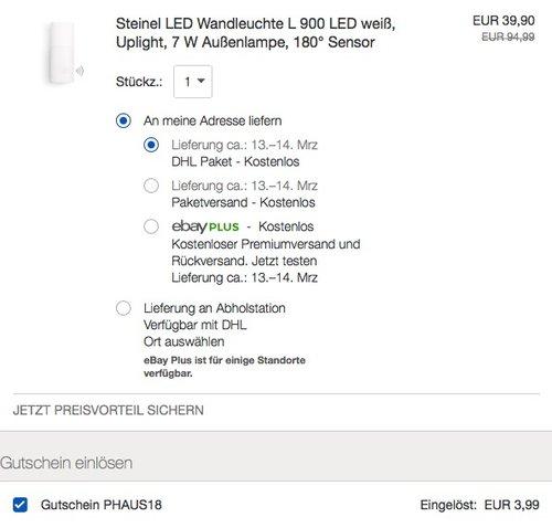 Steinel LED Wandleuchte L 900 LED weiß - jetzt 48% billiger