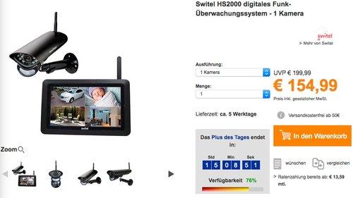 Switel HS2000 digitales Funk-Überwachungssystem - 1 Kamera - jetzt 10% billiger