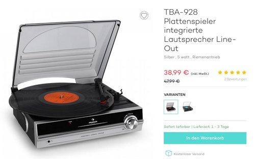 TBA-928 Plattenspieler - jetzt 13% billiger