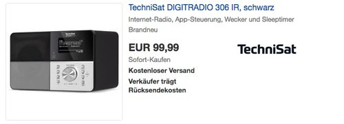 TechniSat DIGITRADIO 306 IR - Internetradio, DAB+, UKW, WLAN, Spotify Connect - jetzt 33% billiger