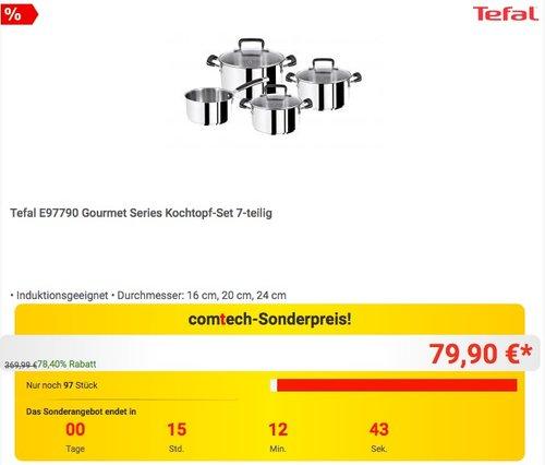 Tefal E97790 Gourmet Series 7-teiliges Kochtopf-Set - jetzt 18% billiger