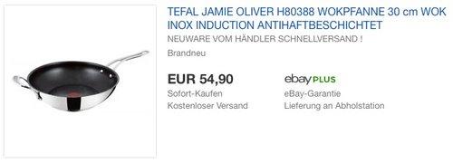 Tefal H80388 Jamie Oliver Premium Inox Induction Wave Wokpfanne 30 cm - jetzt 22% billiger