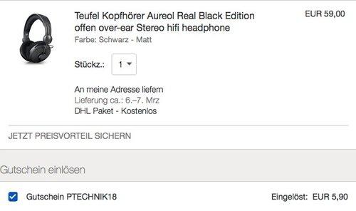 Teufel Kopfhörer Aureol Real Black Edition - jetzt 40% billiger