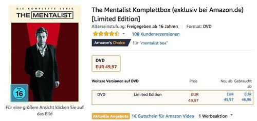 The Mentalist Komplettbox DVD-Box [Limited Edition] - jetzt 47% billiger