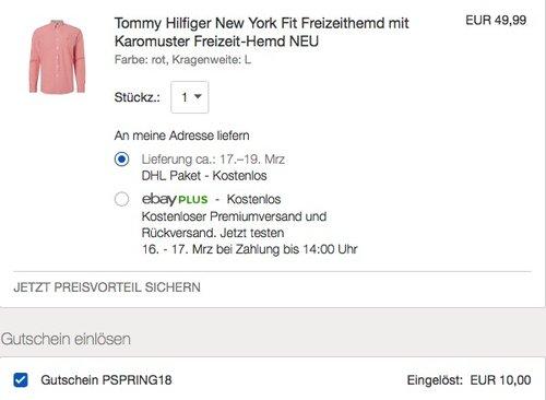 Tommy Hilfiger New York Fit Freizeithemd - jetzt 26% billiger