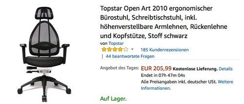 Topstar Open Art 2010 ergonomischer Bürostuhl - jetzt 26% billiger