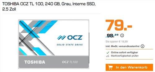 TOSHIBA OCZ TL100, Solid State Drive 240GB - jetzt 12% billiger