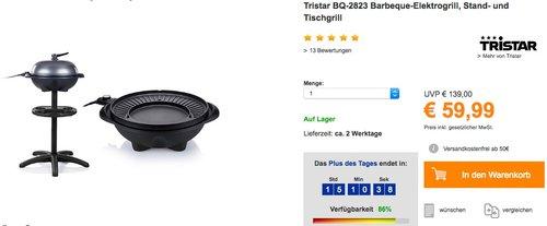 Tristar BQ-2823 Barbeque-Elektrogrill - jetzt 9% billiger