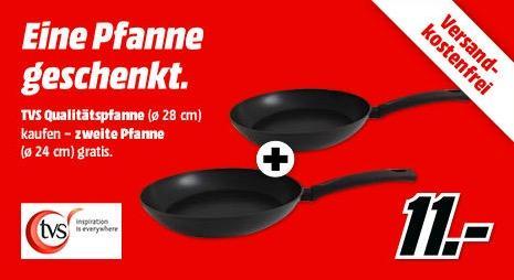 TVS Aroma Bratpfanne 28 cm + gratis 24 cm Pfanne - jetzt 48% billiger