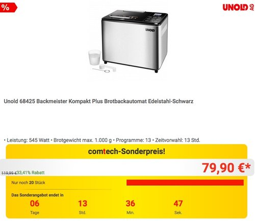 Unold 68425 Backmeister - jetzt 18% billiger