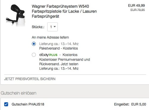 Wagner Farbsprühsystem W540 - jetzt 25% billiger