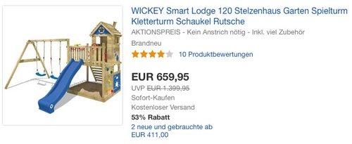 WICKEY Smart Lodge 120 Stelzenhaus - jetzt 6% billiger
