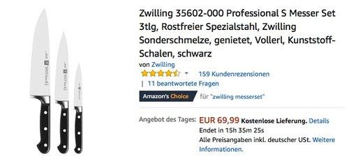 Zwilling 35602-000 Professional S Messer Set 3tlg - jetzt 15% billiger
