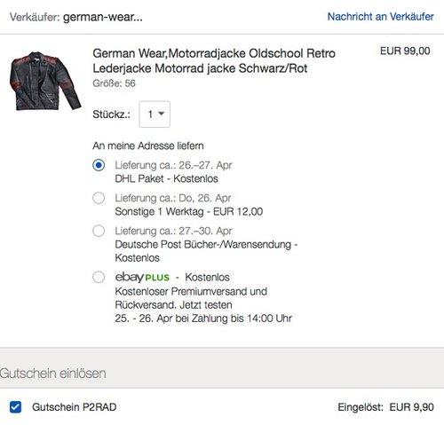 German Wear Motorradjacke Oldschool Retro Lederjacke - jetzt 10% billiger