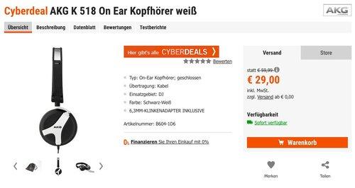 AKG K518 Geschlossener Hochleistungs-DJ-Kopfhörer mit 3D-Axis-Faltmechanismus - jetzt 38% billiger