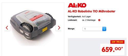 AL-KO Robolinho 110 Mähroboter - jetzt 5% billiger