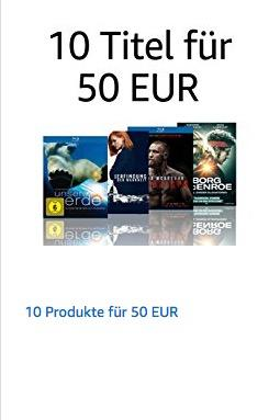 Amazon: 10 Titel aus DVD & Blu-ray und Serien & TV-Produktionen für 50€ - jetzt 54% billiger