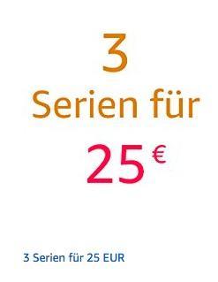 Amazon: 3 Serien für 25€ (bis 29.04.18) - jetzt 50% billiger
